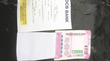 Man gets 'half-printed' Rs 2,000 note from ATM in Shaheen Bagh