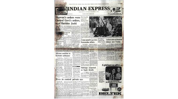 CM Rajasthan, Express Archives, RK Dhawan, Congress, Justice Shaha Committee, India News, Indian Express