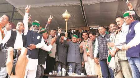 Virbhadra Singh, Himachal Pradesh 2017 assembly elections, Himachal elections, Himachal polls, Virbhadra Singh, Prem Kumar Dhumal, Narendra Modi, Rahul Gandhi, BJP, Congress, indian express