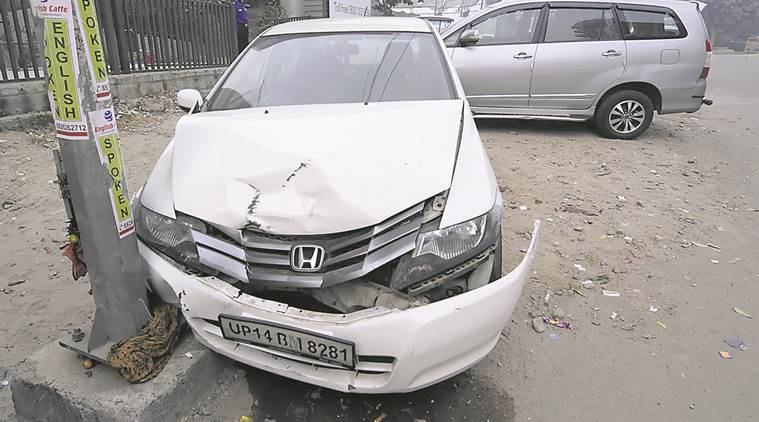 noida parking accident, pregnant woman accident, Mansi Singhal