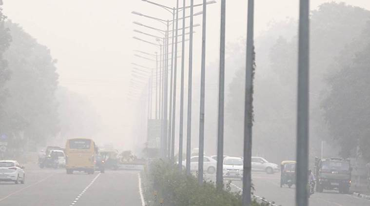 chandigarh, pollution, smog, city beautiful punjab, indian express