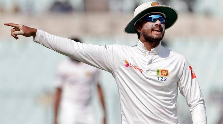 Dinesh Chandimal against india in Kolkata Test