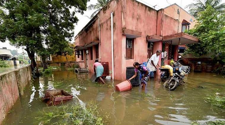 Chennai Weather, Chennai Rain, chennai rain images, Weather in Chennai, Chennai News Rain, Rain Chennai, India News, chennai rain forecast, Indian Express, Indian Express News