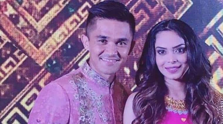 Sunil Chhateri wedding, Sunil Chhetri Sonam Bhattacharya wedding, Sunil Chhetri wife, Sunil Chhetri photos, Football news