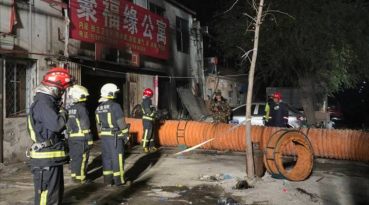 Police detain 18 in Beijing after blaze that killed 19
