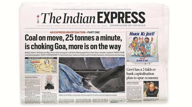 coal, Piyush Goyal, Express Investigation, Coal Goa investigation, coal burying Goa, Railway minister