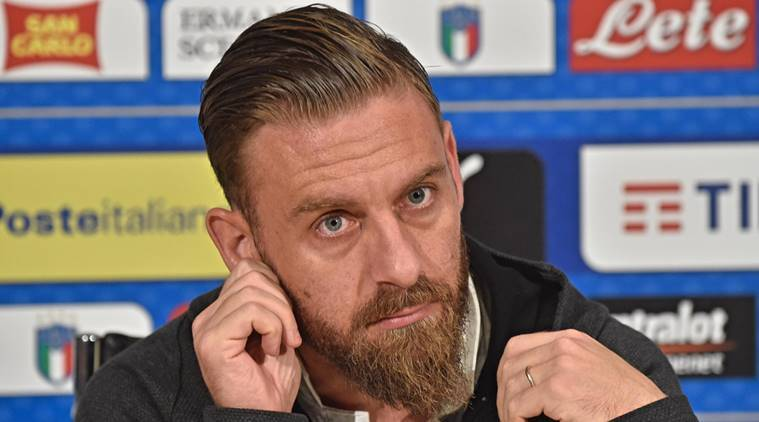 Daniele De Rossi, Daniele De Rossi Italy, Italy vs Sweden, World Cup qualifier, sports news, football, Indian Express