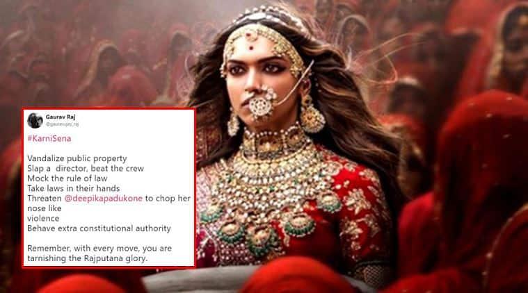 padmavati, padmavati row, deepika padukone, sanjay leela bhansali, karni sena, karni sena member, rajput community, padmavati controversy, deepika padukone cut off nose, indian express, indian express news