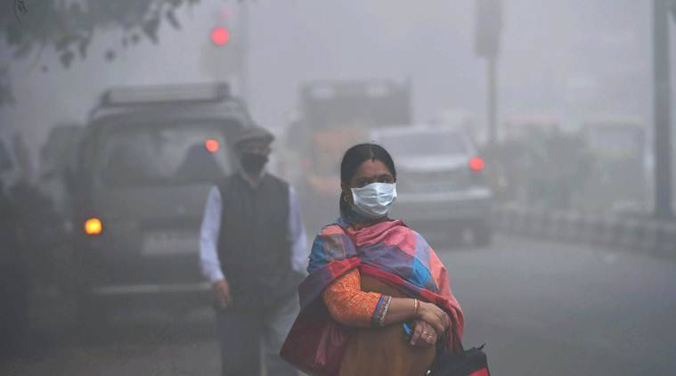 Thick hazy morning in Delhi chokes, air quality deteriorates