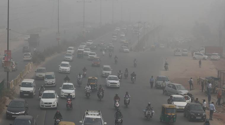 delhi pollution, smog, aqi, co, carbon monoxide, air quality index, dpcc, toxic air, indian express