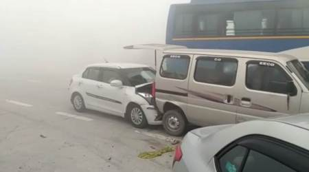 yamuna expressway accident, delhi smog, smog in delhi, smog accidents, delhi pollution, uttar pradesh smog, latest news, indian express