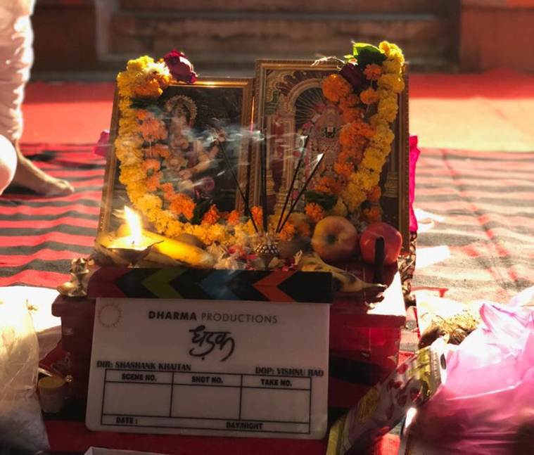 Jahnvi Kapoor and Ishaan Khatter start shooting for Dhadak in Udaipur.