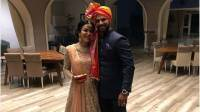 Shikhar Dhawan, wife Aesha look gorgeous together at sister's wedding ceremony, see insidepics