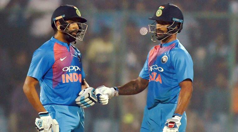 Image result for rohit dhawan partnership t20i against nz 2017