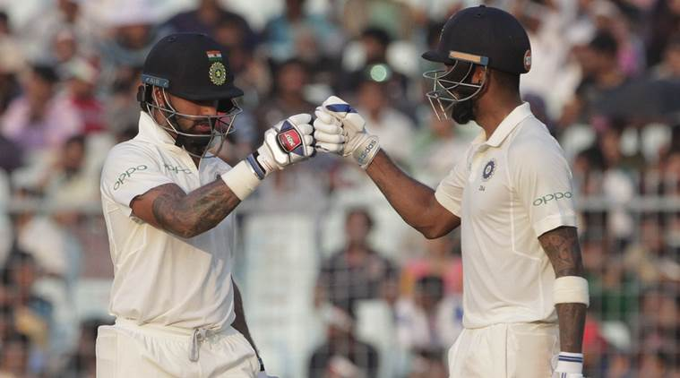 Shikhar Dhawan and KL Rahul forged a 166 run stand for India against Sri Lanka in the first Test
