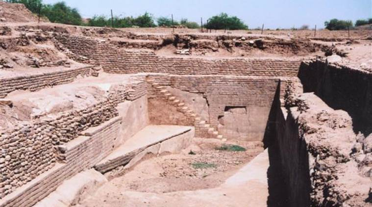 Indus civilisation did not develop around flowing river