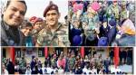 MS Dhoni in Kashmir, surprises Army Public School students in Srinagar