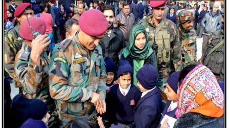 MS Dhoni pays surprise visit to Army Public School Srinagar, tells students to balance sports and studies