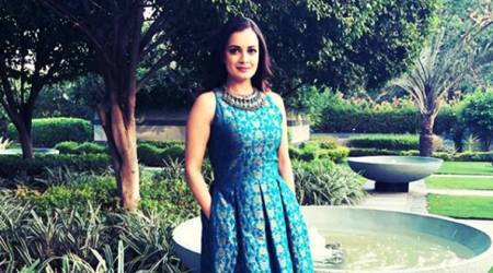 Dia Mirza's embroidered dress is a beautiful medley of modern and ethnic; see pics