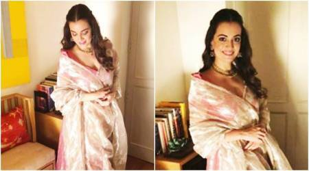 Dia Mirza's Banarasi lehenga is just what you need this wedding season