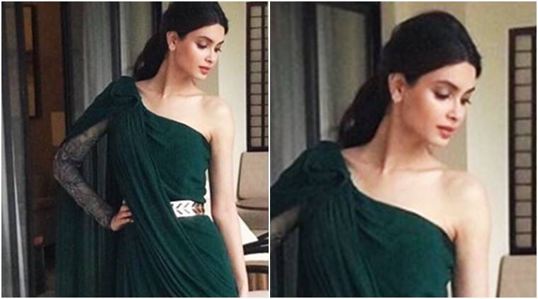Diana Penty's emerald green number is a beautiful take on the toga dress