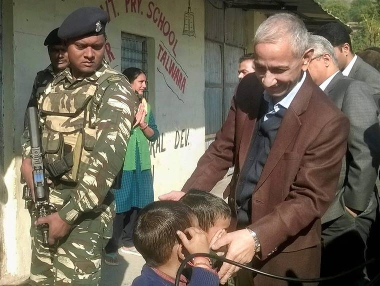 Dineshwar Sharma, india's interlocutor, Talwara camp, dineshwar sharma visits talwara, Jammu and Kashmir, J-K, J&K, India News, Indian express news