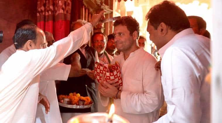 Rahul Gandhi, Gujarat Election, Congress, Lord Shiva, Rahul Gandhi temple visit, Navsrajan Yatra, Gujarat Congress, Amit Shah, Narendra Modi, BJP, Assembly election, Gujarat, India News, Indian Express