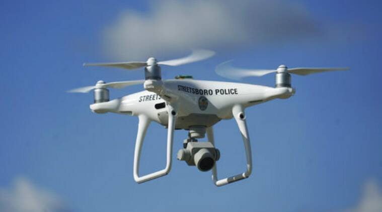 Drones, law enforcement agencies, air surveillance, unmanned aircraft, remote-controlled flying machines, drone cameras, small size, battery life, federal regulations, police, sheriff, fire agencies, emergency services, arson investigators, car crashes,