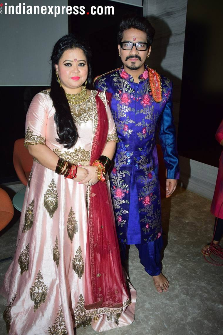 bharti and haarsh at their pre wedding function