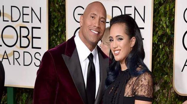 Dwayne Johnson's daughter is the Miss Golden Globe of 2017