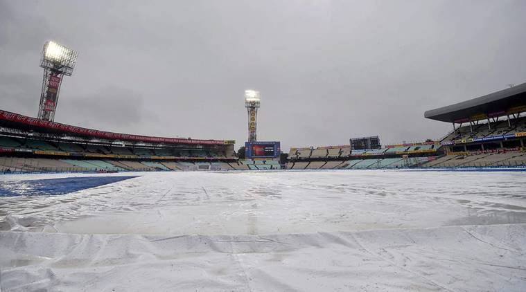 Play on the first two days between India and Sri Lanka was washed out