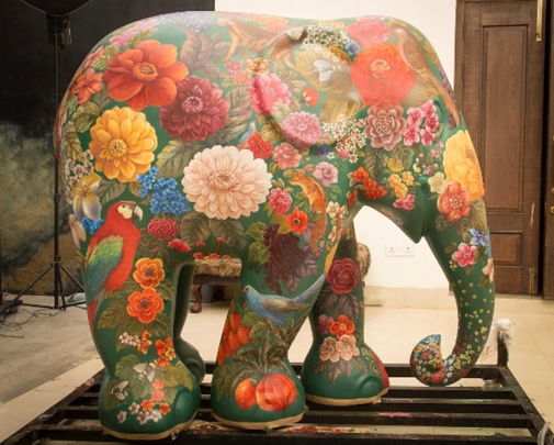 elephant parade photos, mumbai elephant parade images, Elephant Parade India, Pichvai art images, indian elephant art pics