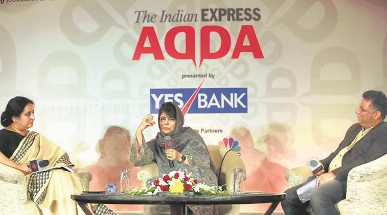 Mehbooba Mufti, Express Adda, Mufti Mohammad Sayeed, J&K security situation, Narendra Modi, J&K envoy, J&K militancy, Article 370, J&K human shield, Indian Express