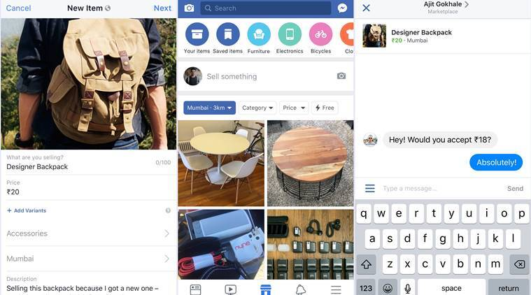 facebook marketplace comes to India