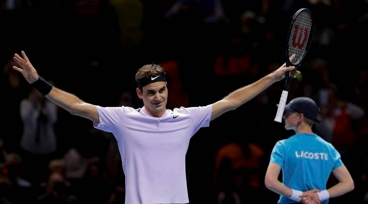 David Goffin sets up Roger Federer semi-final clash at ATP Finals