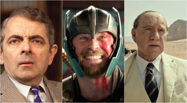 Thor Ragnarok, rowan atkinson, justice league, kevin spacey, molly's game