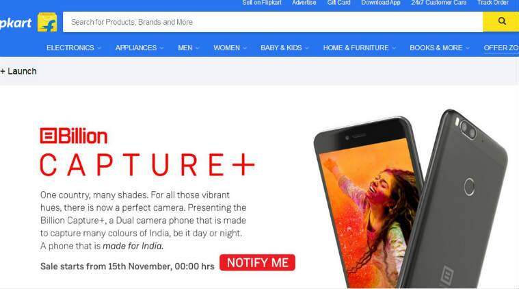 Flipkart's awkwardly-named Billion Capture+ is now up for sale in India