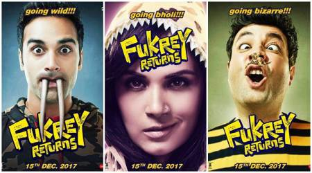 Fukrey Returns, Fukrey Returns new posters, Fukrey Returns new videos, Fukrey, Fukrey Returns charecter posters, Pulkit Samrat, Varun Sharma, Richa Chadha