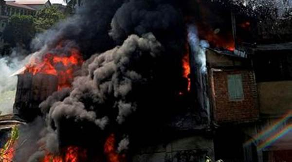 Guwahati Fire, Guwahati Major Fire, Guwahati Fire Injured, Guwahati Fire Three Persons Injured, Guwahati, India News, Indian Express, Indian Express News