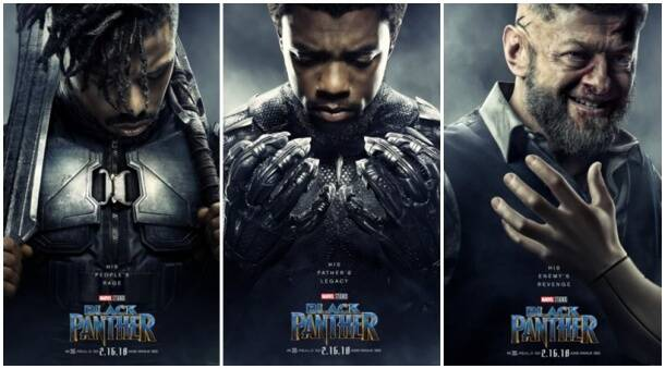 black panther, black panther film, black panther poster, black panther posters, chadwick boseman, michael b jordan, andy serkis, marvel cinematic universe, mcu, entertainment news, indian express news