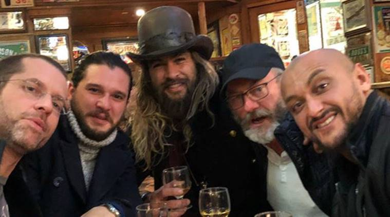game of thrones, jason momoa, kit harrington, game of thrones cast, game of thrones cast pic,