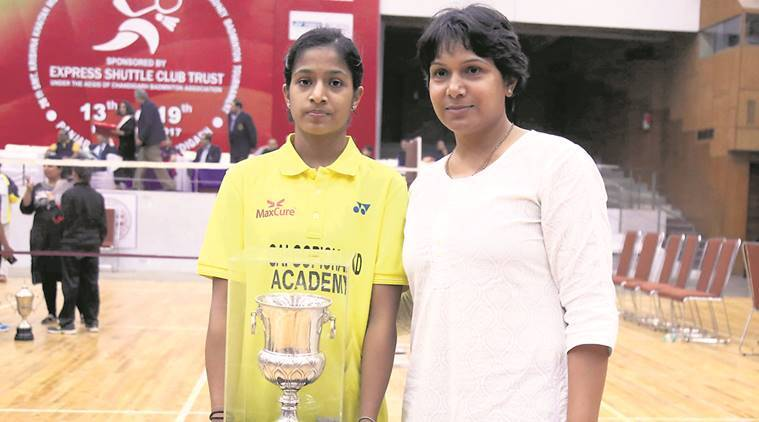 Pullela Gayatri Gopichand, Pullela Gayatri Gopichand U-19 title, Purva Barve, PVV Lakshmi, sports news, badminton, Indian Express
