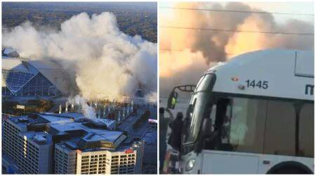 VIDEO: BAM! Bus blocks LIVE shoot of Georgia Dome implosion at just the WRONG time