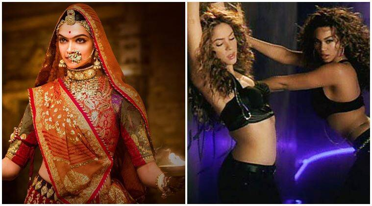Video Beyonce And Shakira Shake A Leg To Deepika Padukone S Ghoomar In This Mash Up Trending News The Indian Express