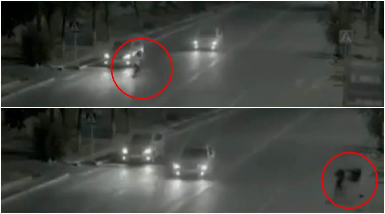 VIDEO: Ghost or super human? Guy 'flashes' across to save girl ...
