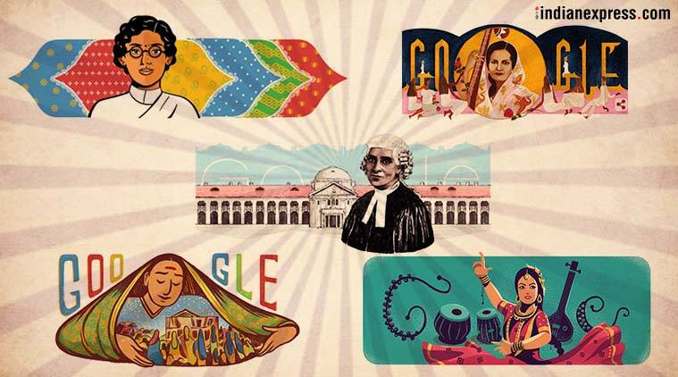indian women highlighted in google doodles