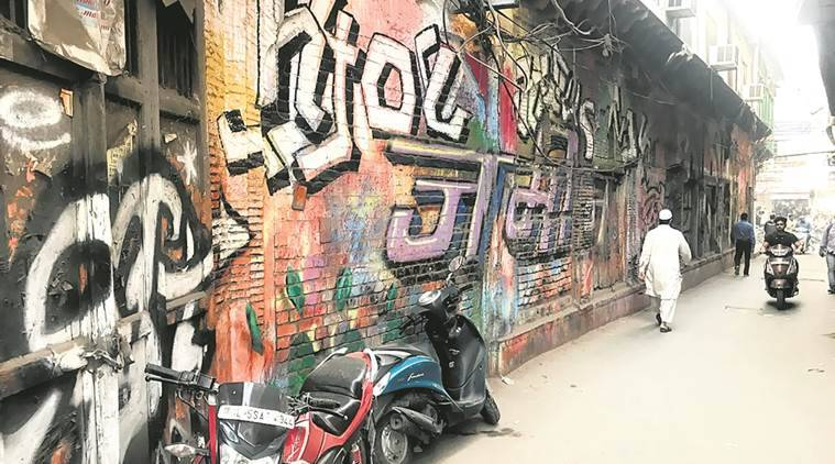 intach, graffiti delhi, heritage building, delhi chapter convenor swapna liddle, indian express
