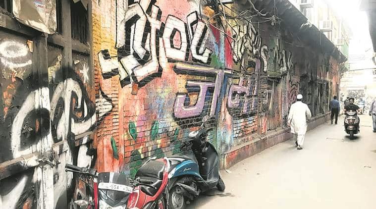intach, graffiti delhi, heritage building, delhi chapter convenor swapna liddle, indian express