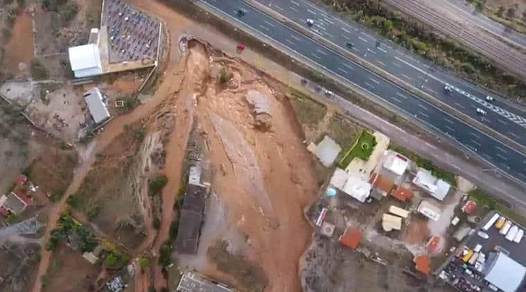 Greece, greece floods, greek flash floods, flash floods in greece, world news, indian express news,