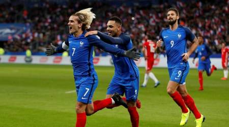 Antoine Griezmann, Olivier Giroud power France to 2-0 victory over Wales